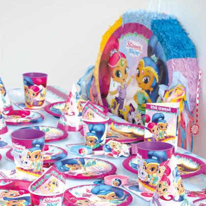 Shimmer and Shine 8 Invitations For Birthday Party