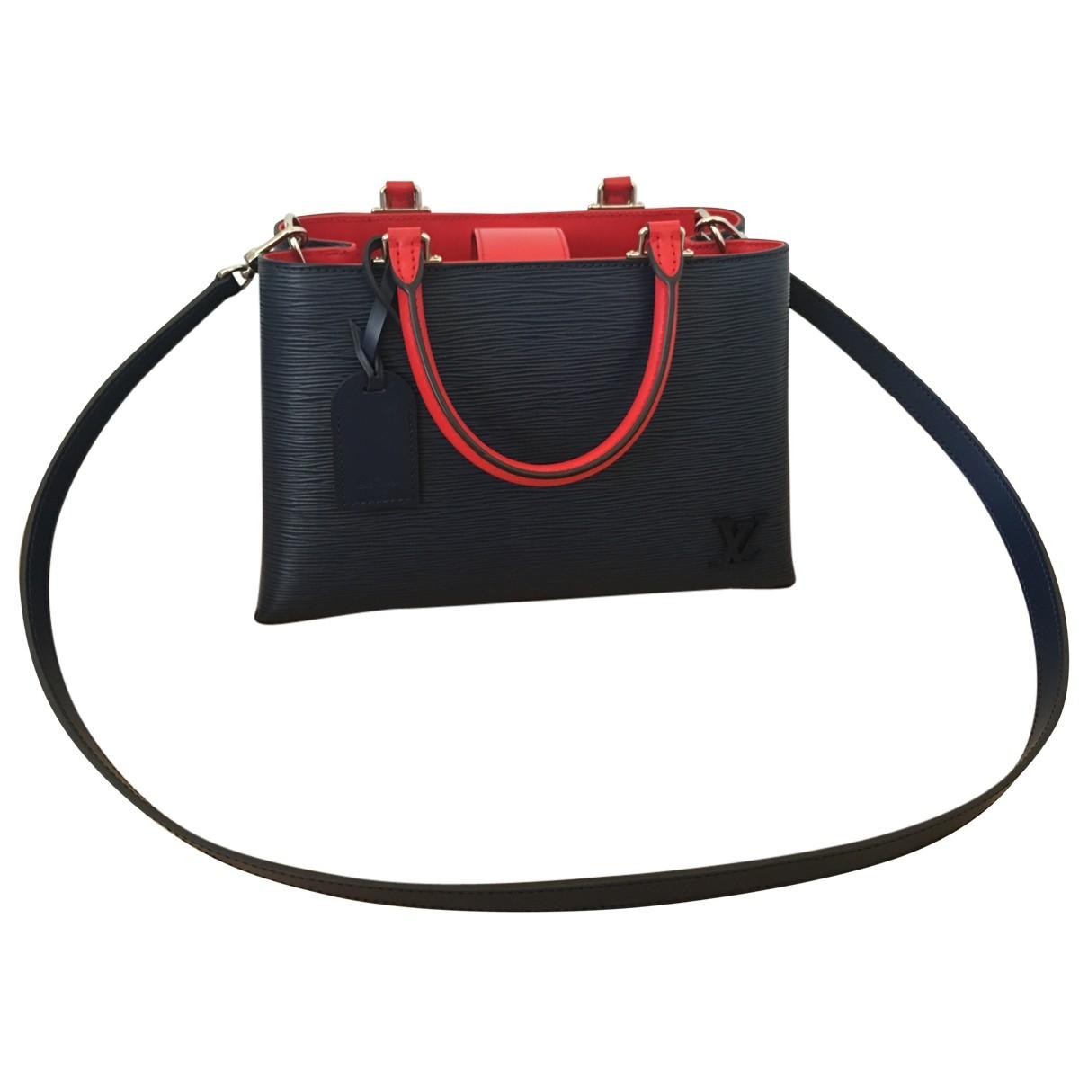 Louis Vuitton Kleber Handtasche in  Marine Leder
