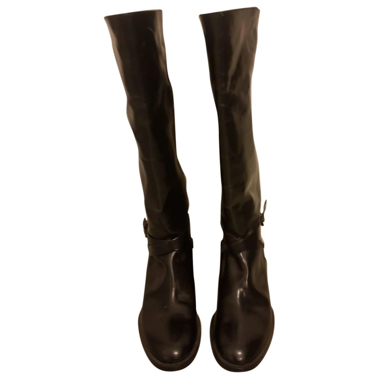 Fratelli Rossetti \N Black Leather Boots for Women 38 EU