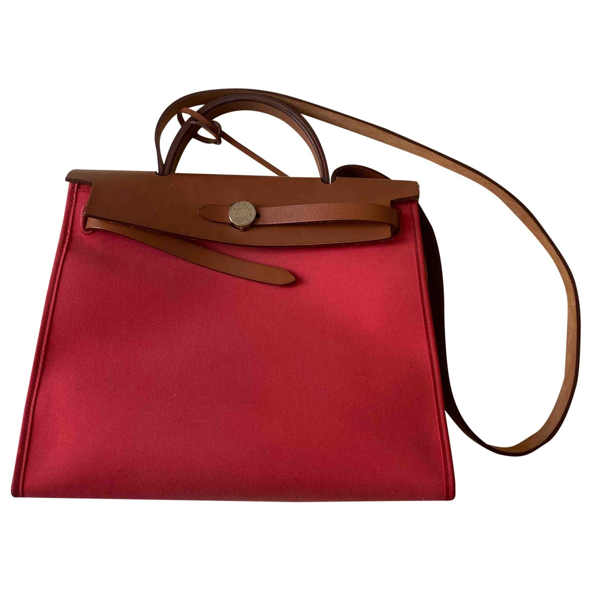 Hermes - Sac a main Herbag pour femme en cuir - rouge