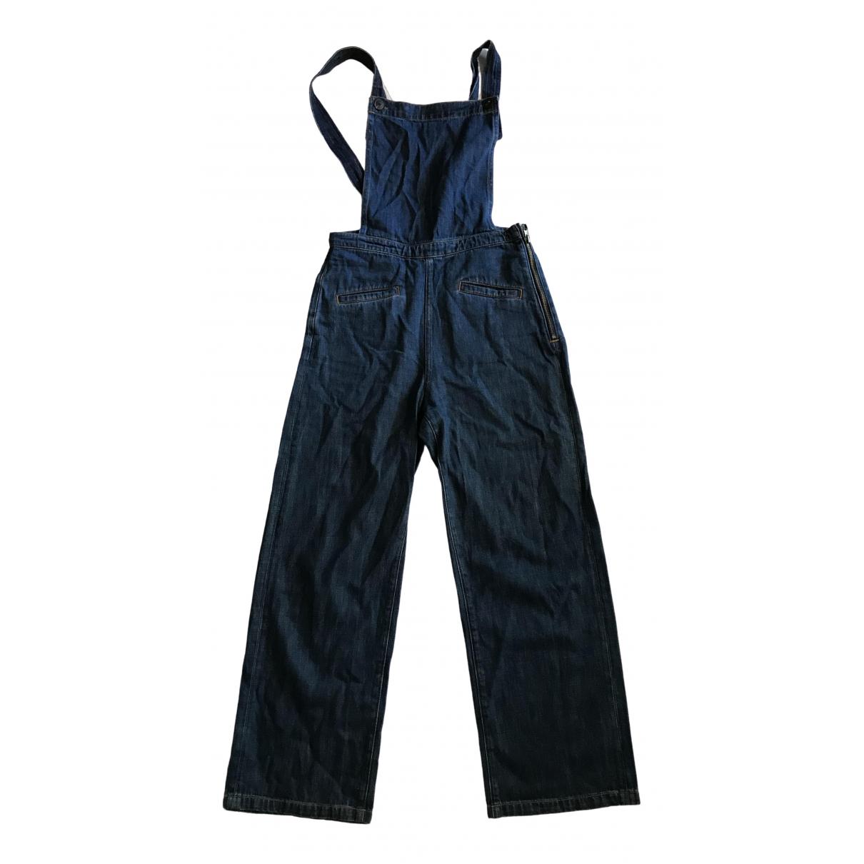 Mih Jean - Combinaison   pour femme en denim - bleu