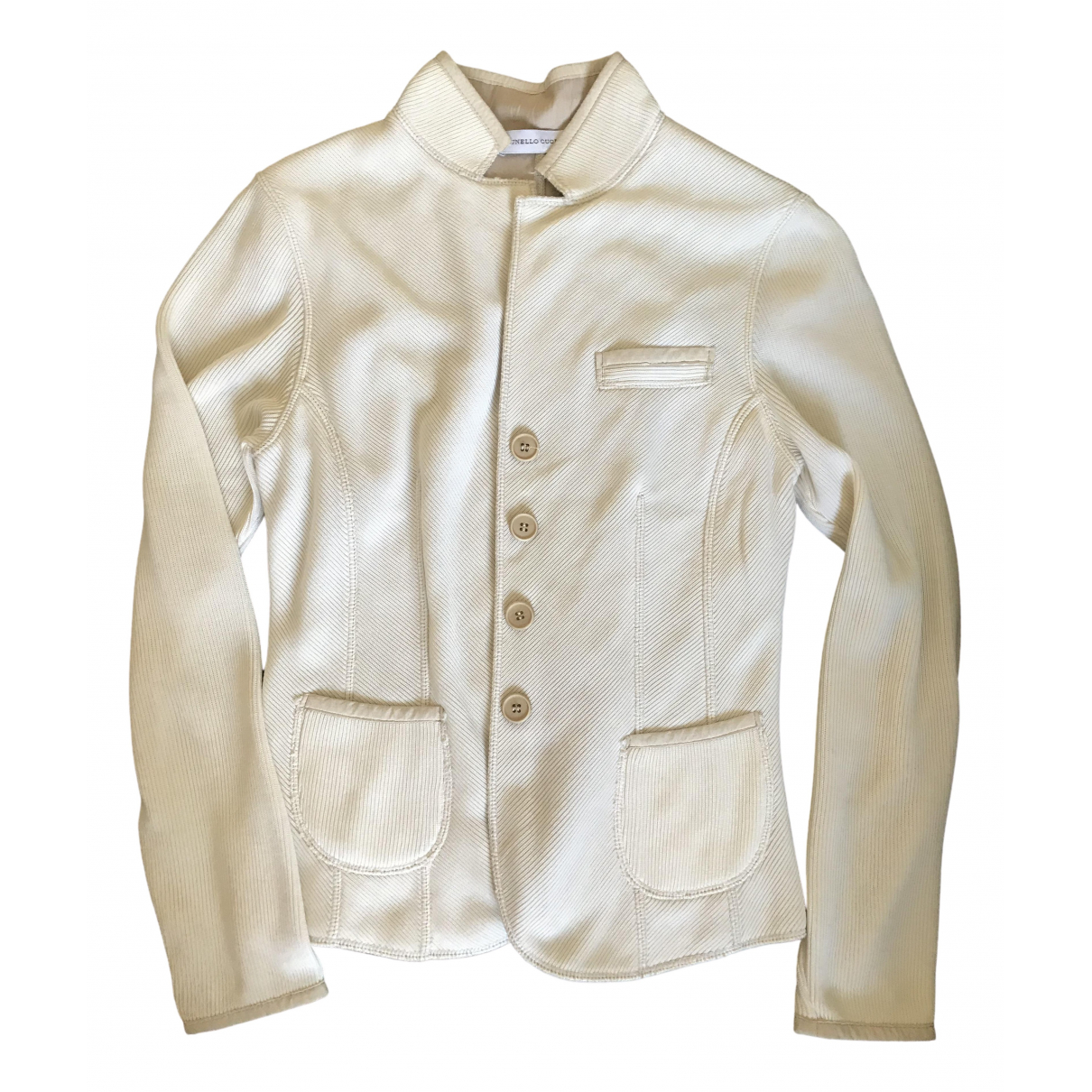 Brunello Cucinelli \N White Cotton jacket for Women M International