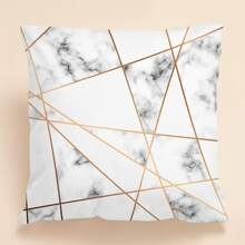 Kissenbezug mit Marmor Muster ohne Fuelle