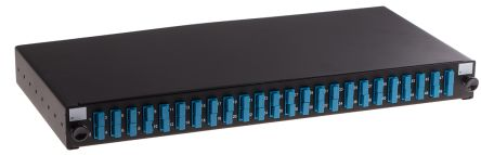 RS PRO Duplex Fibre Optic Patch Panel With 24 Ports Populated, 1U