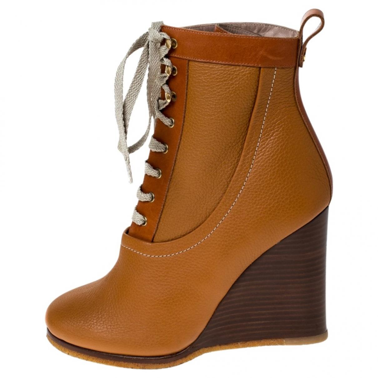 Chloe - Boots River pour femme en cuir - camel