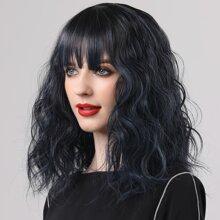 Lockiges Haarteil mit Farbverlauf