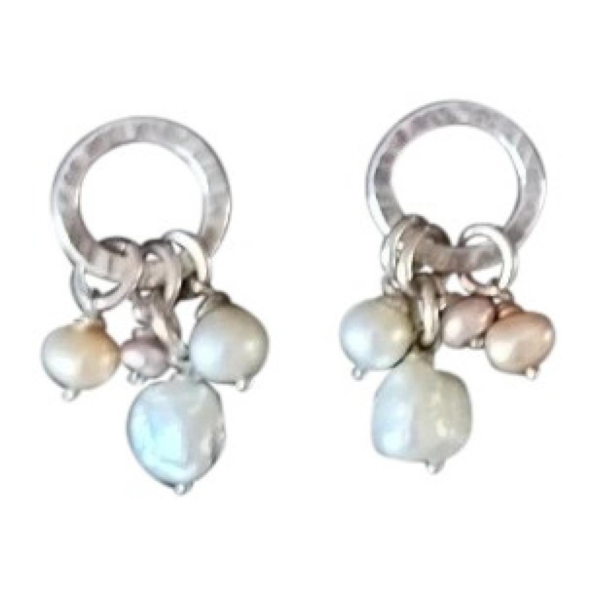 - Boucles doreilles   pour femme en perles - argente