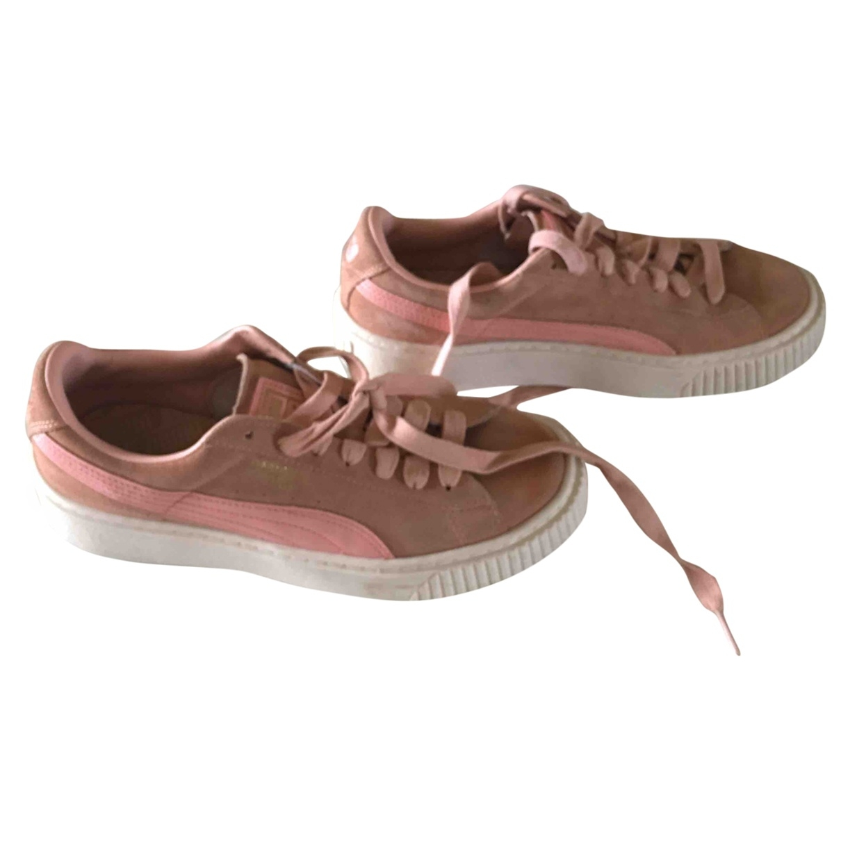 Puma \N Pink Suede Trainers for Women 38 EU