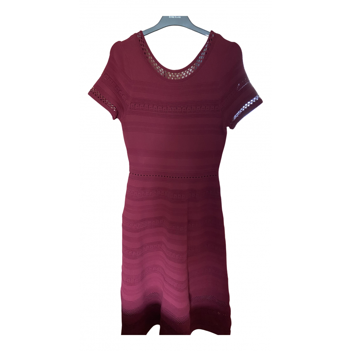 Sandro \N Kleid in  Bordeauxrot Polyester