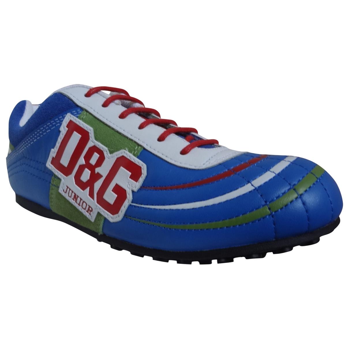 D&g \N Sneakers in  Blau Leder