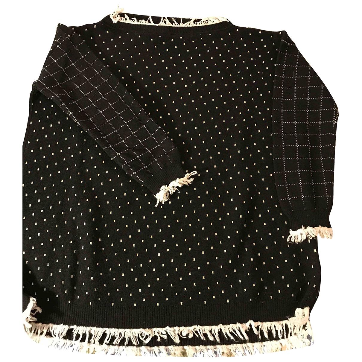 Liviana Conti \N Pullover in  Schwarz Wolle