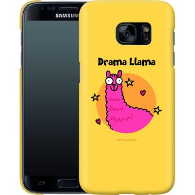 Samsung Galaxy S7 Smartphone Huelle - Drama Lama von Flossy and Jim