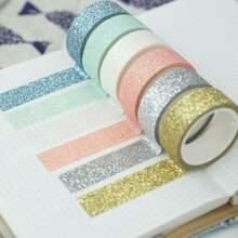 6rolls Glitter Random Decorative Tape