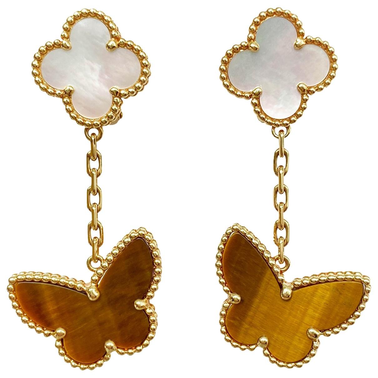 Pendientes Alhambra de Oro amarillo Van Cleef & Arpels