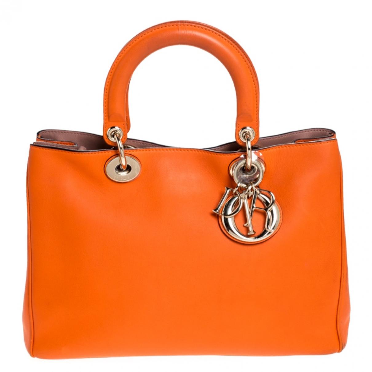 Dior Diorissimo Orange Leather handbag for Women \N