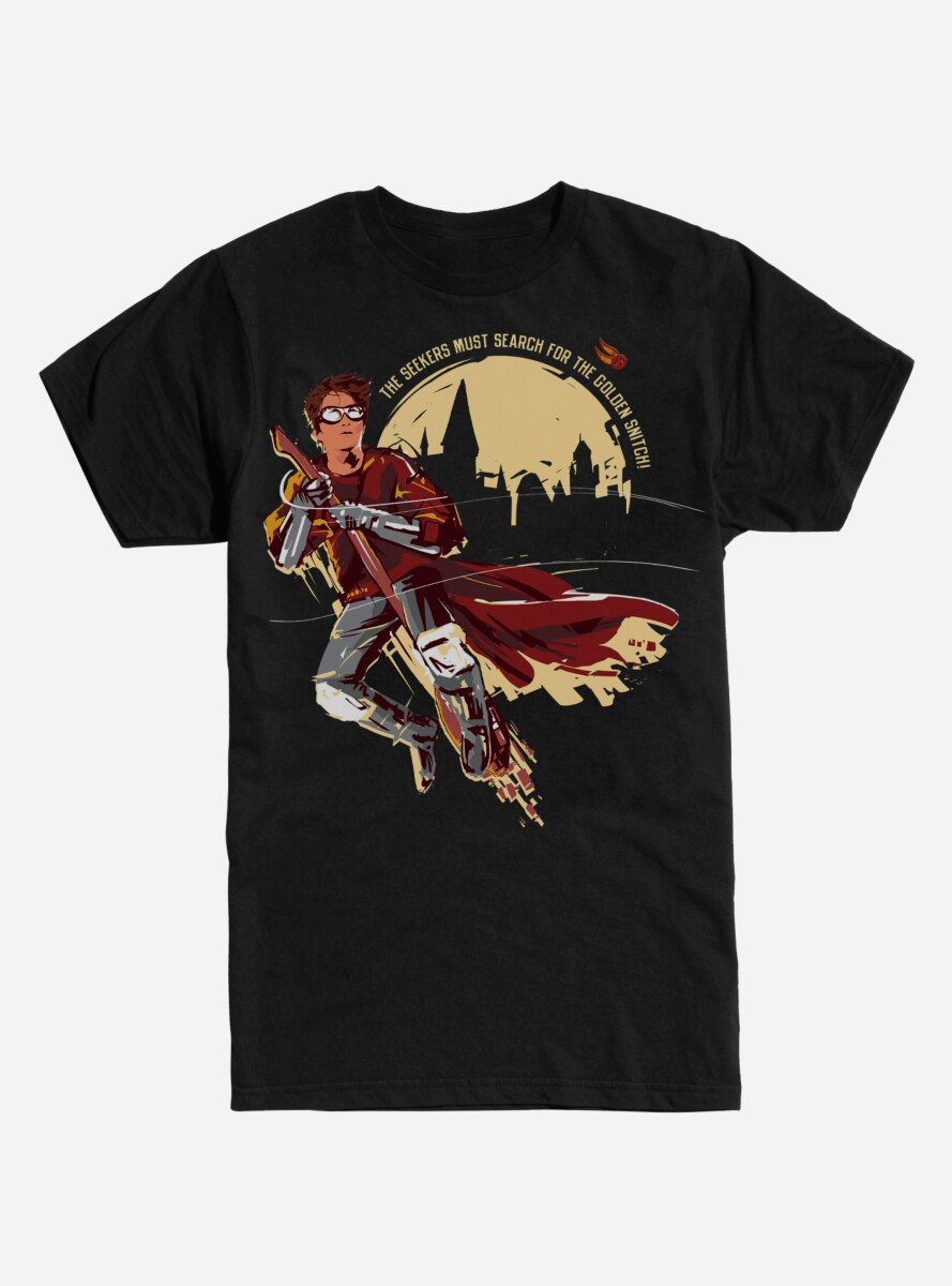 Harry Potter On a Broom T-Shirt