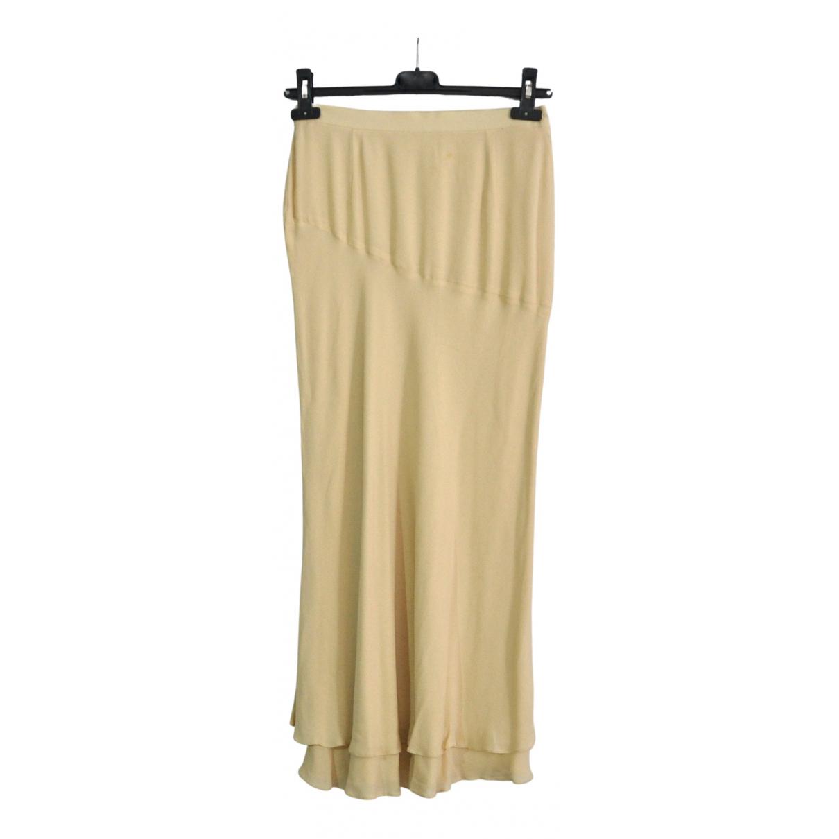 Escada \N Beige Silk skirt for Women 36 FR