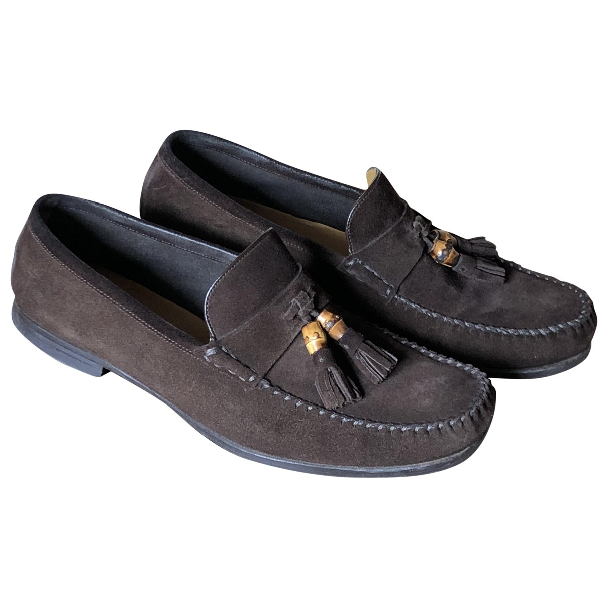 Gucci \N Brown Suede Flats for Men 9.5 UK