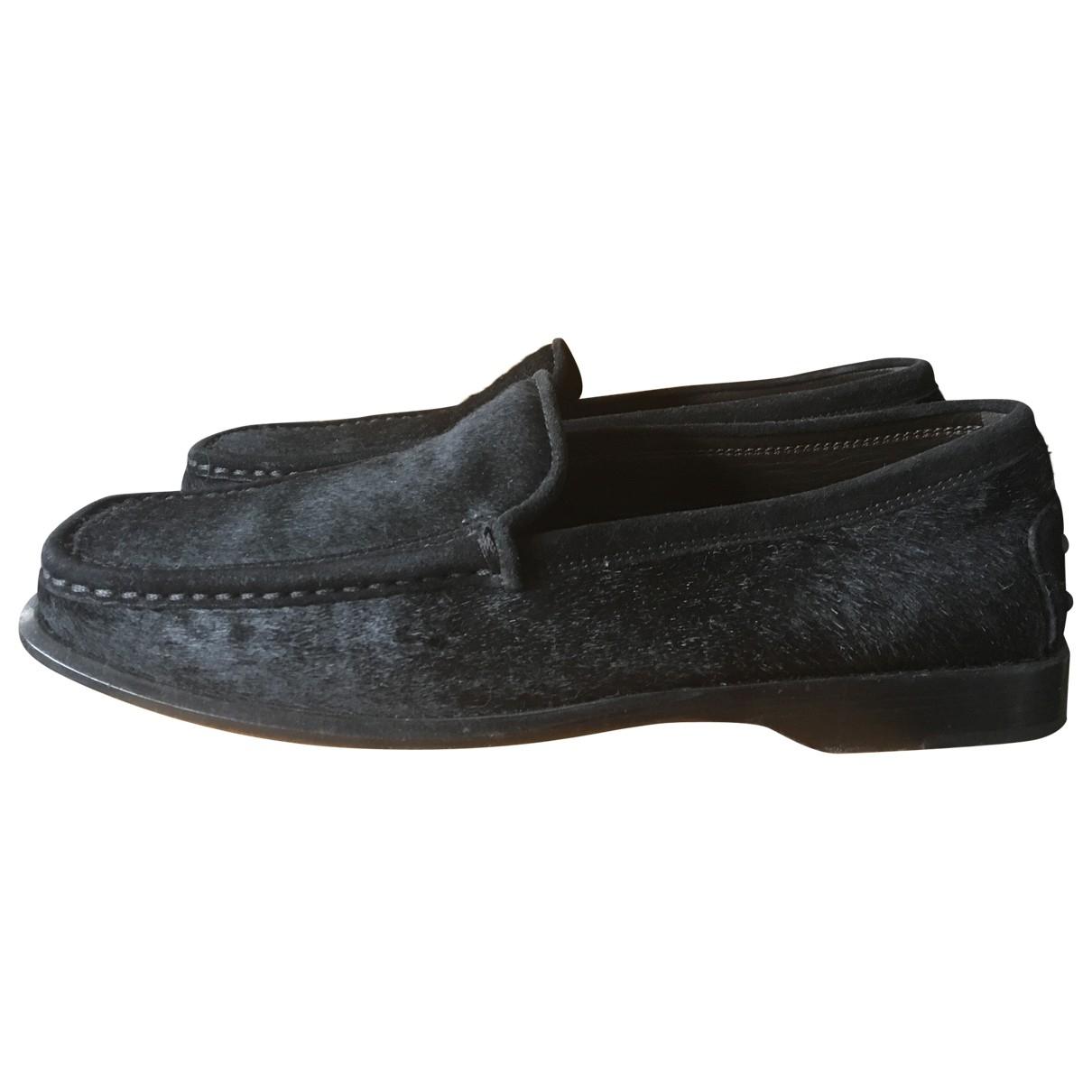 Tod's \N Black Pony-style calfskin Flats for Women 38 EU