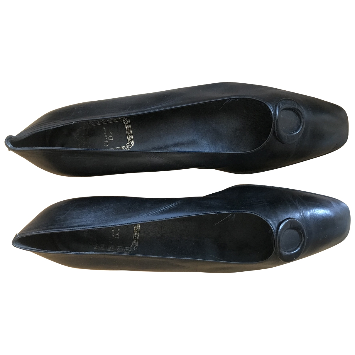 Dior \N Black Leather Ballet flats for Women 40 EU