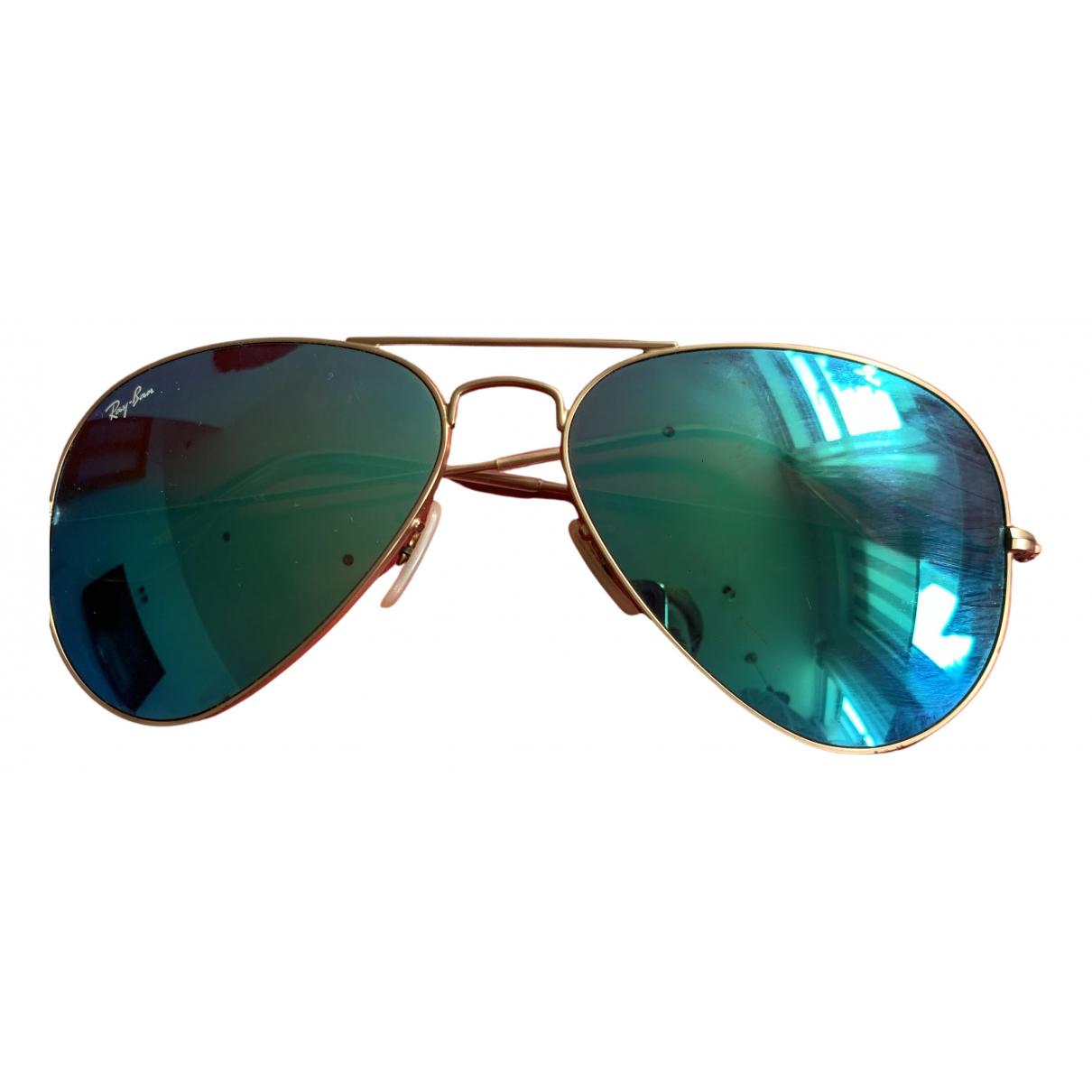 Ray-ban Aviator Sonnenbrillen in  Blau Metall