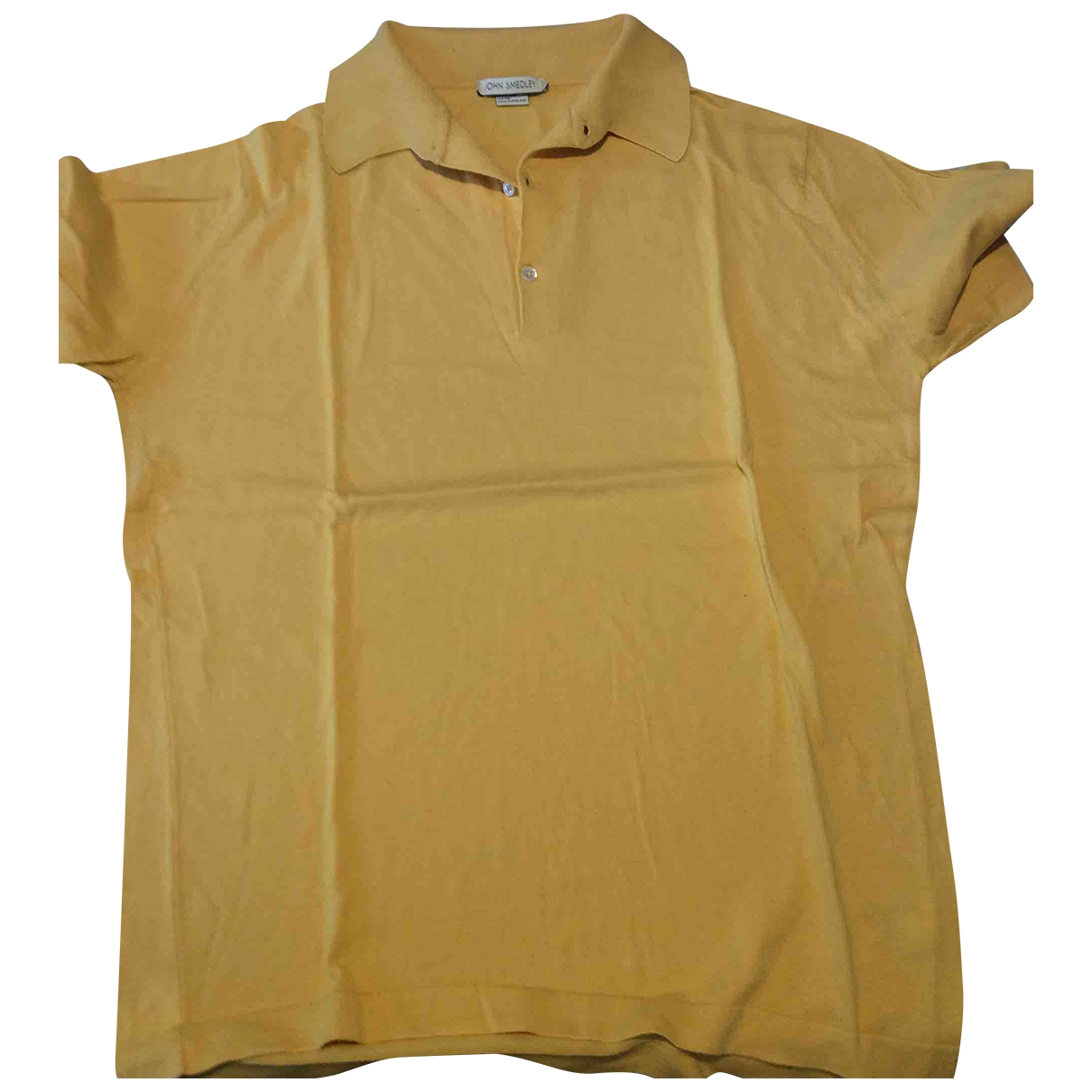 John Smedley - Polos   pour homme en coton - jaune