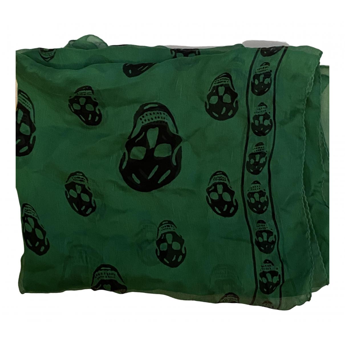 Alexander Mcqueen \N Green Silk scarf for Women \N