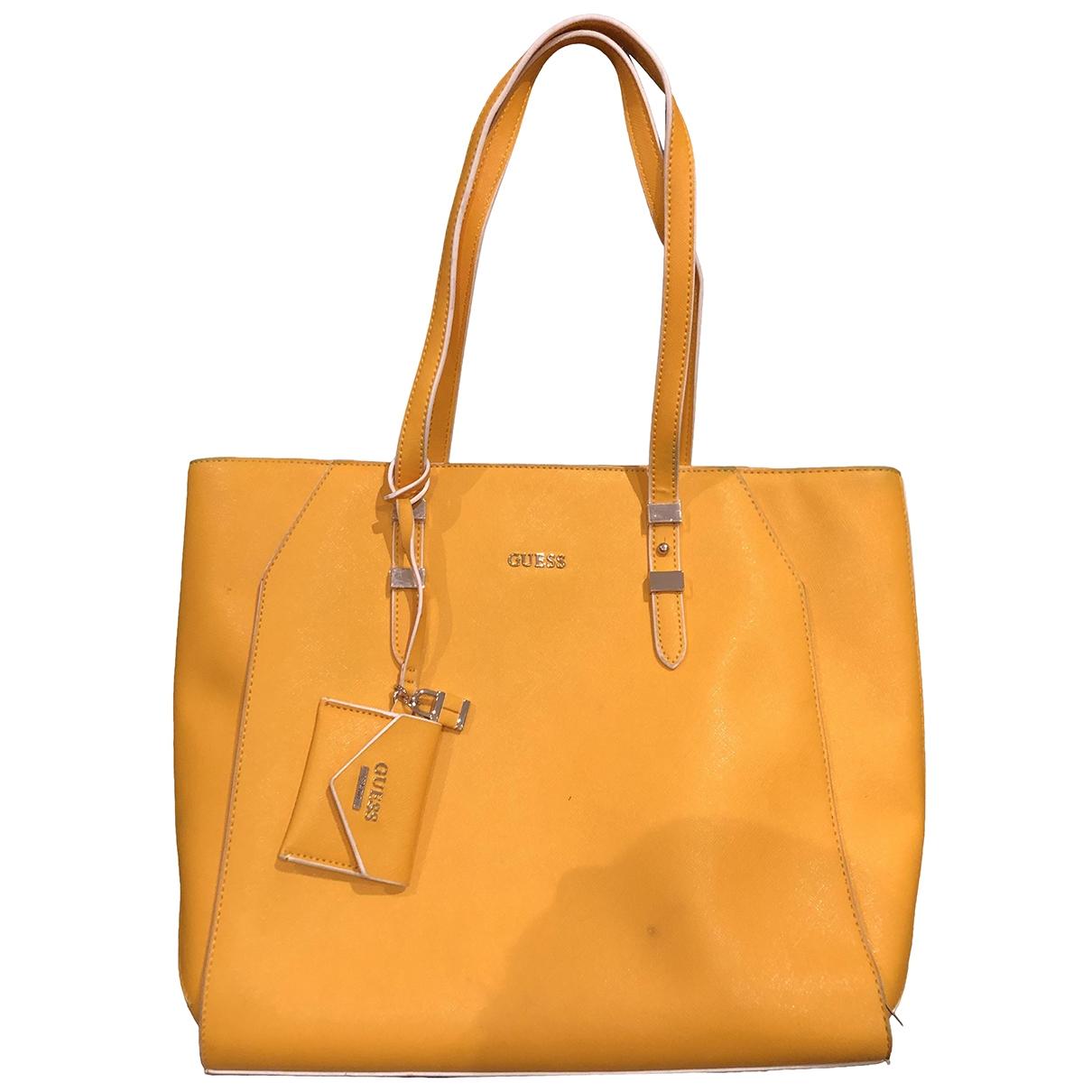 Guess \N Yellow Leather handbag for Women \N
