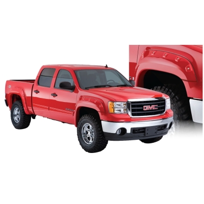 Bushwacker GMC Cut-Out Fender Flare Set (Paintable) - 40947-02