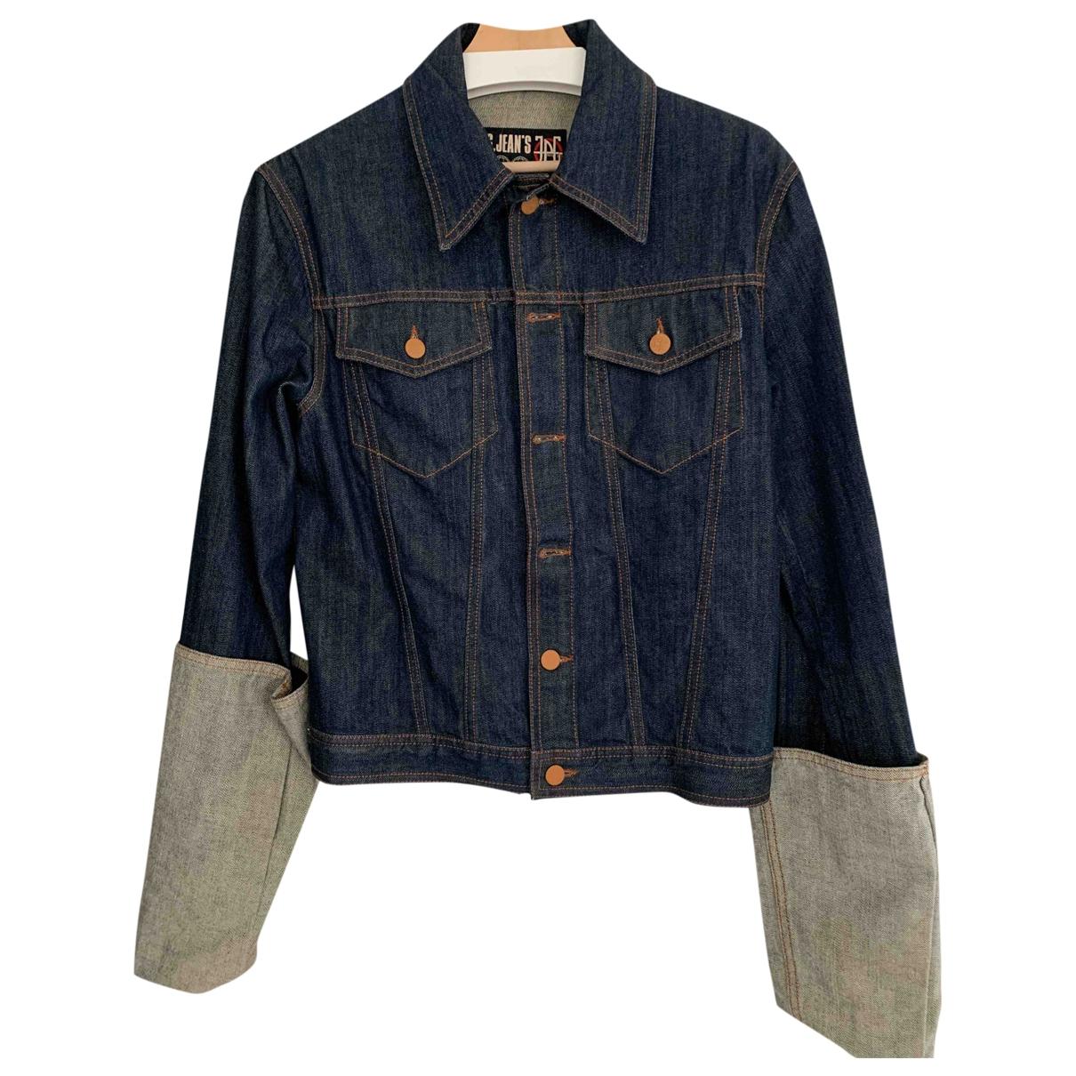 Jean Paul Gaultier \N Navy Denim - Jeans jacket  for Men 46 IT