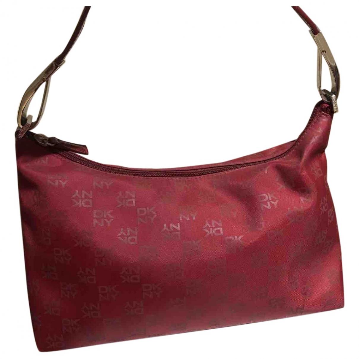 Dkny \N Handtasche in  Rot Leinen
