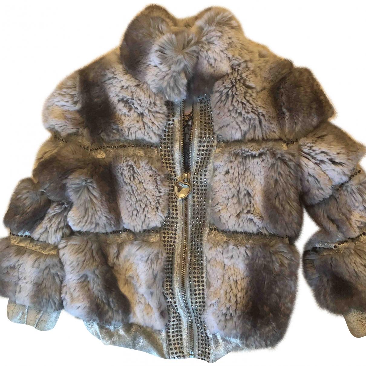 Roberto Cavalli \N Grey Faux fur jacket & coat for Kids 4 years - up to 102cm FR