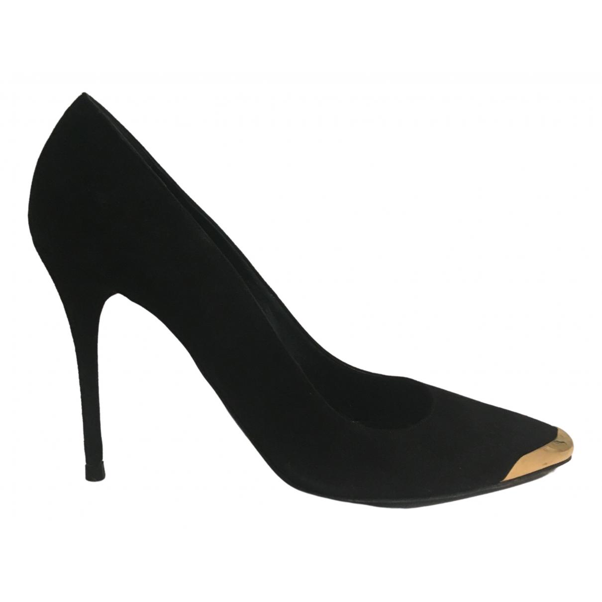 Alexander Mcqueen \N Black Suede Heels for Women 40 EU