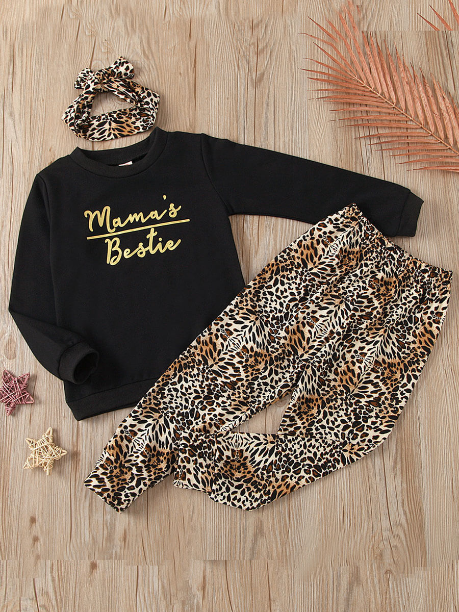 LW Lovely Casual O Neck Print Brown Girl Two-piece Pants Set