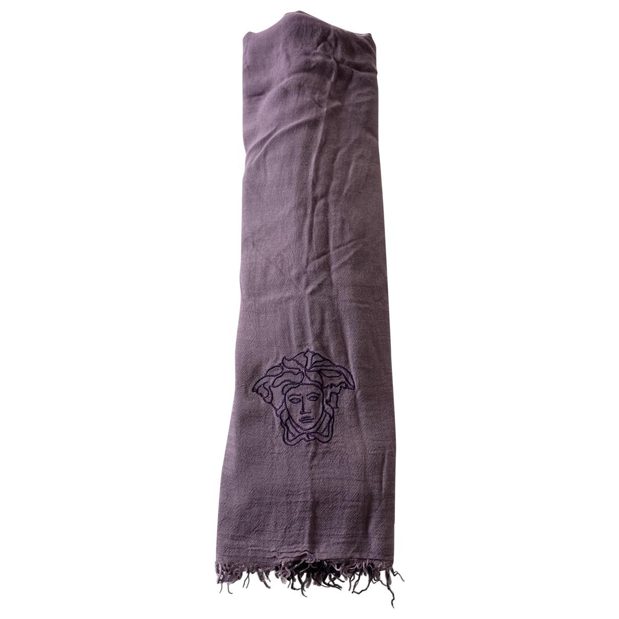 Versace \N Purple Cotton scarf for Women \N