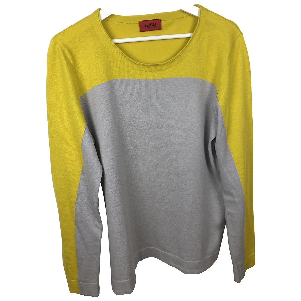 Hugo Boss \N Pullover.Westen.Sweatshirts  in  Grau Baumwolle