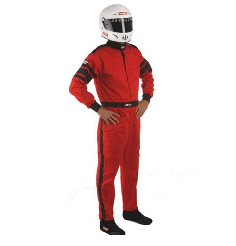 RaceQuip 110 Series Pyrovatex Racing Suit - Red - Large