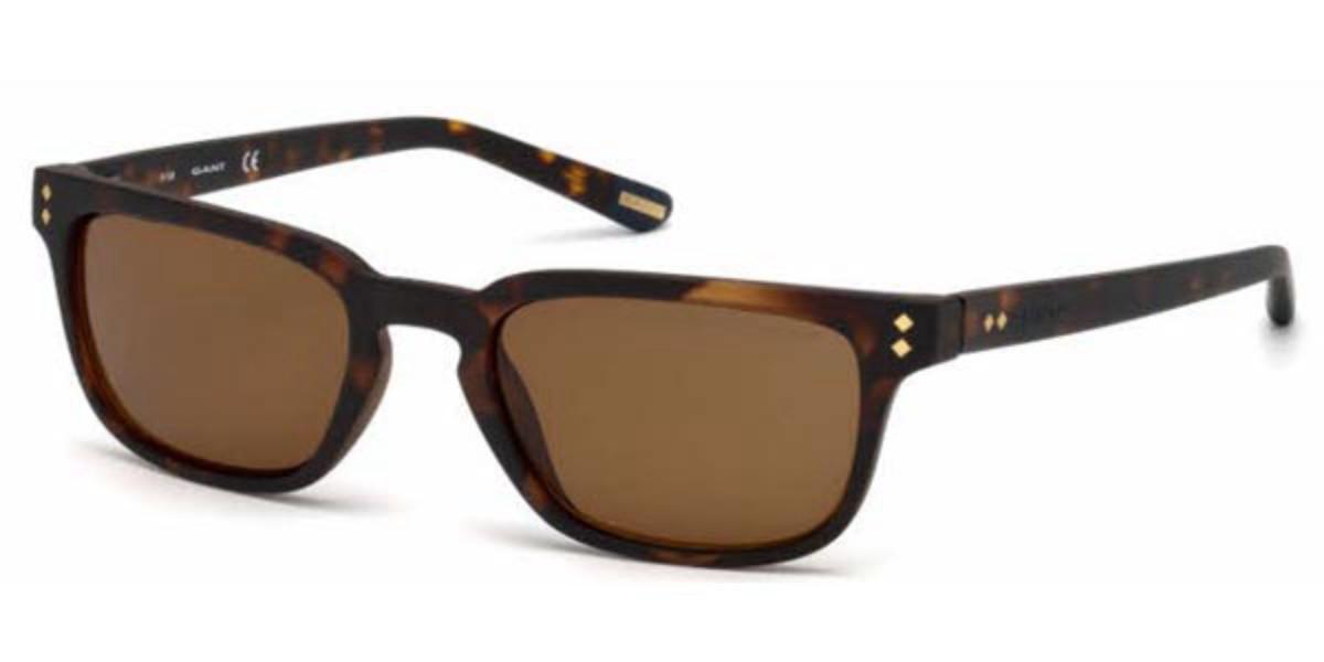 Gant GA7080 Polarized 52H Men's Sunglasses Tortoise Size 52
