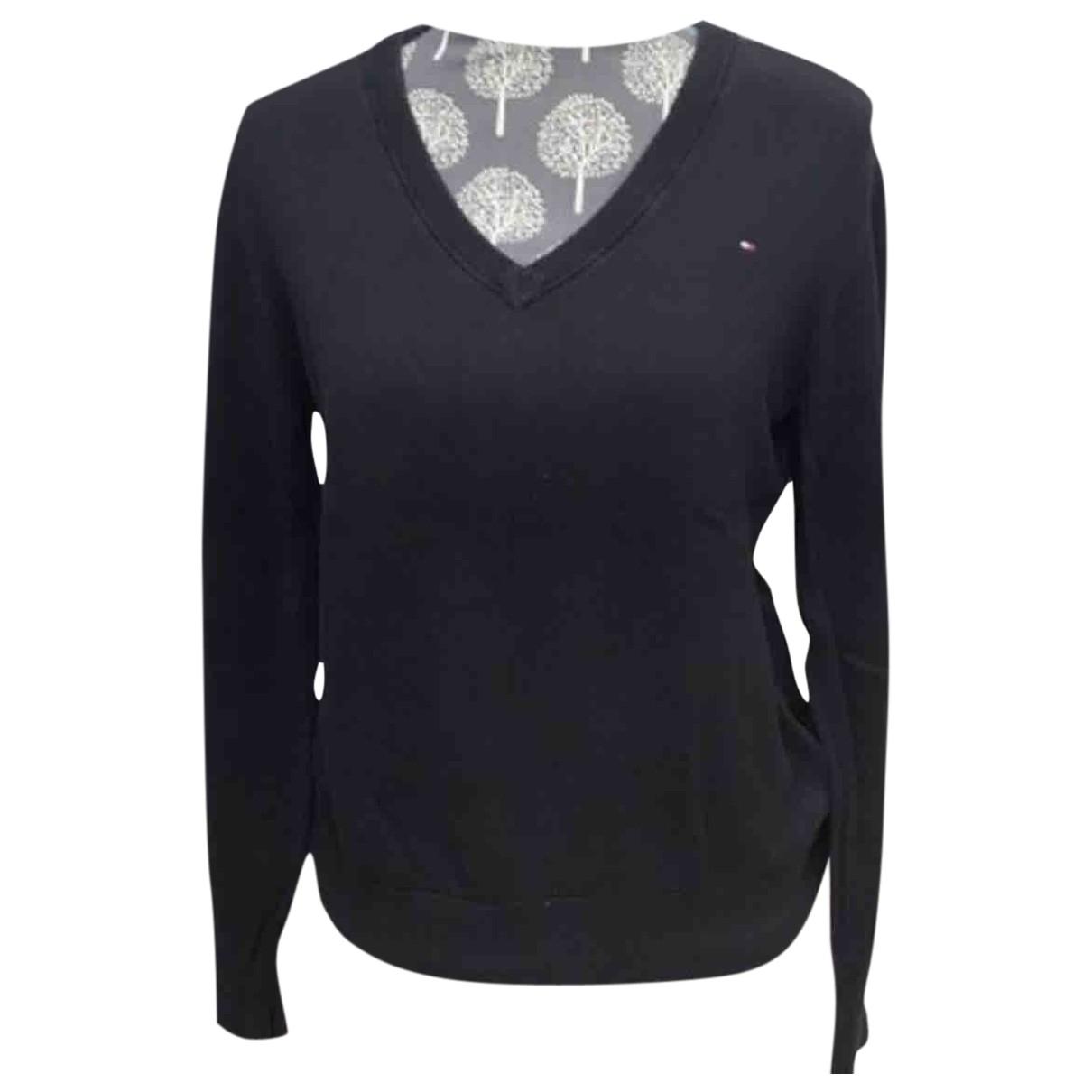 Tommy Hilfiger \N Black Cotton Knitwear for Women 40 FR