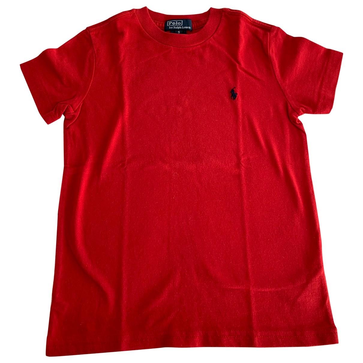 Ralph Lauren - Top   pour enfant en coton - rouge