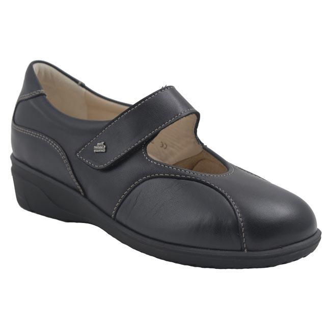 Finn Comfort Zwolle Black Leather 45 Uk