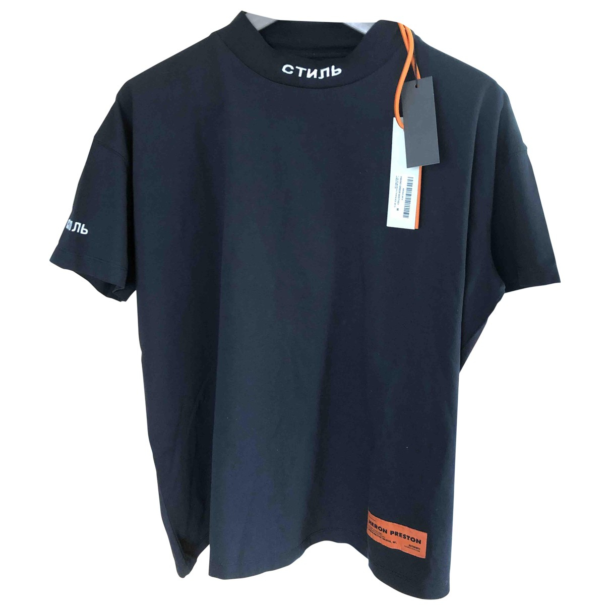 Heron Preston - Tee shirts   pour homme en coton - noir
