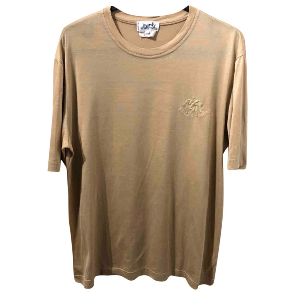Hermès \N Beige Cotton T-shirts for Men S International