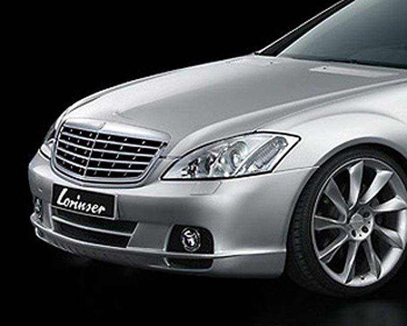 Lorinser 488 0221 42 Exclusive Front Bumper Cover w/o Parktronic Mercedes-Benz S-Class 06-09