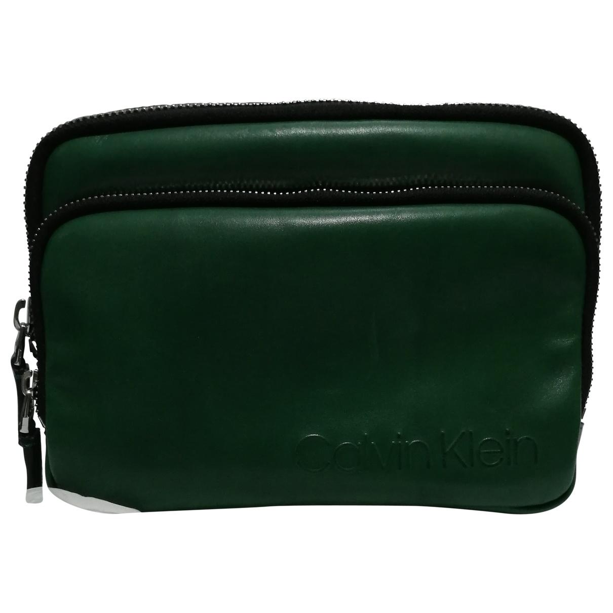 Calvin Klein \N Green Leather bag for Men \N