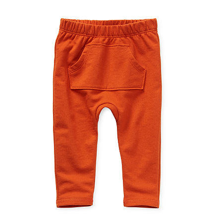 Okie Dokie Baby Boys Straight Pull-On Pants, 9 Months , Orange