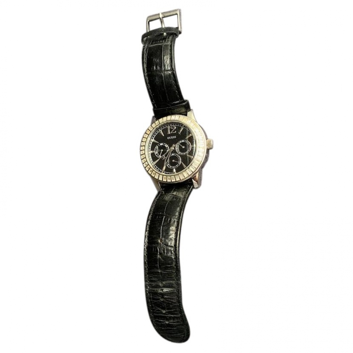 Guess \N Black Steel watch for Men \N