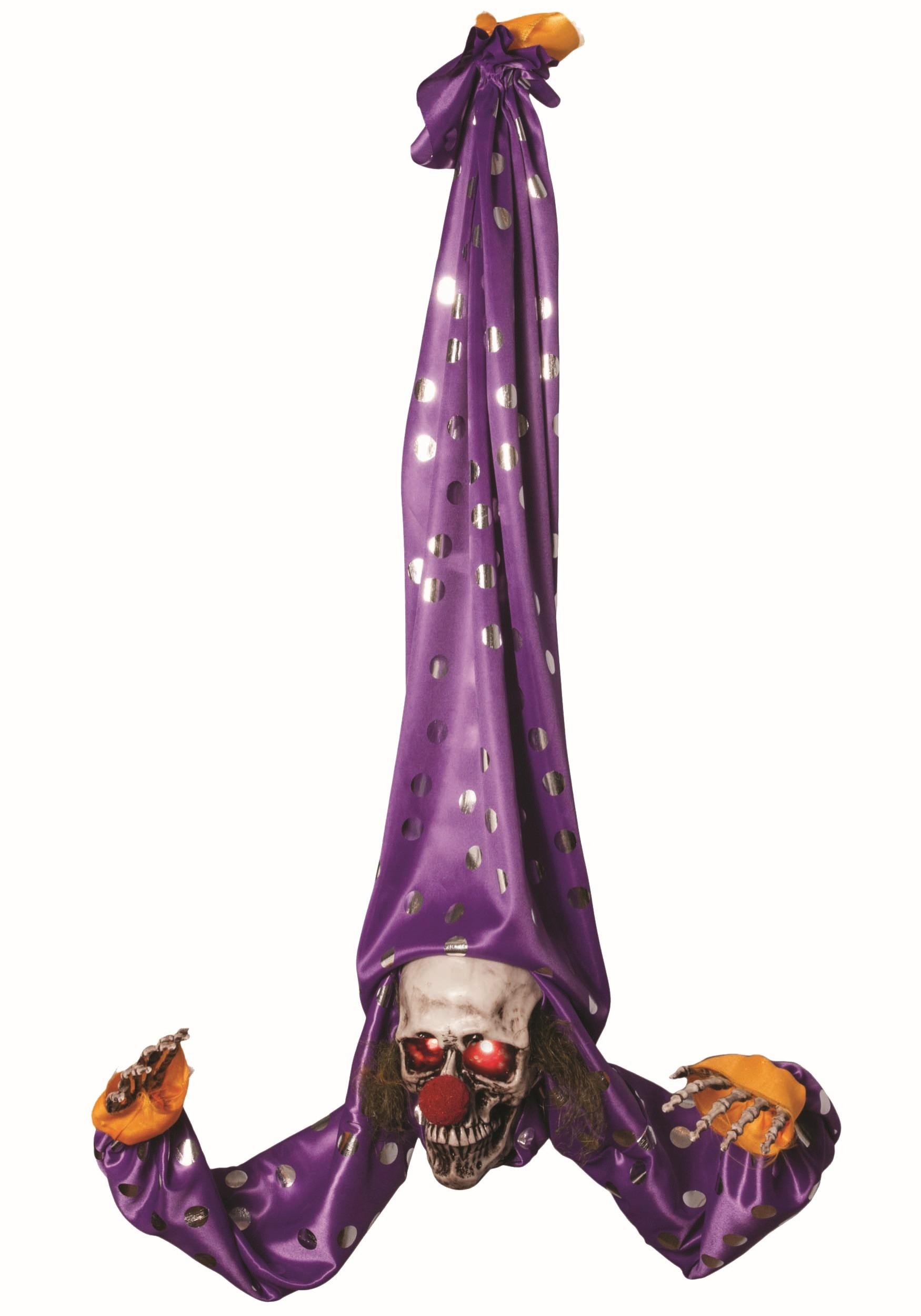 Halloween Animated Upside Down Clown Decoration