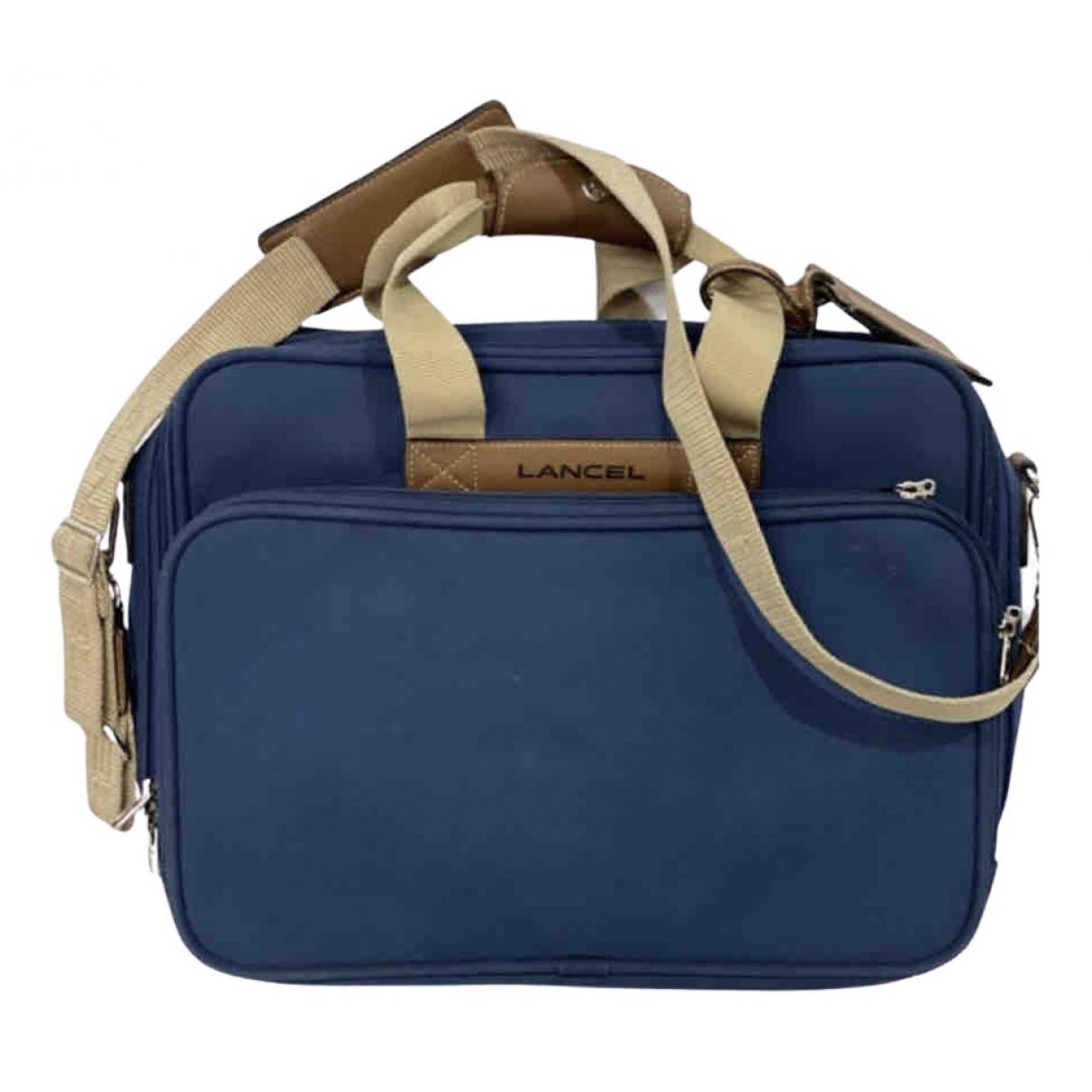 Lancel \N Blue Cloth bag for Men \N