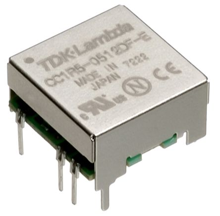 TDK-Lambda CC-E 1.5W Isolated DC-DC Converter Through Hole, Voltage in 18 → 36 V dc, Voltage out 5V dc